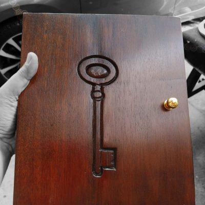 cassettina portachiavi realizzata da cesanoi idee regalo
